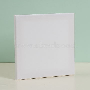 Painting Cotton Panels, with Board Core, for Acrylic, Oil Drawing, Square, White, 19.8x19.9x1.5cm(DIY-G019-13B)