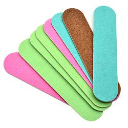 Fichiers tampons de manucure à double face d'art d'ongle, bande de vernis à ongles, bâton de brunissage, couleur mixte, 9x2x0.1 cm(MRMJ-R052-92)