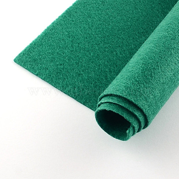 Non Woven Fabric Embroidery Needle Felt for DIY Crafts, Square, Green, 298~300x298~300x1mm(X-DIY-Q007-20)