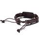 Unisex Trendy Leather Cord Bracelets(BJEW-BB15581-B)-3