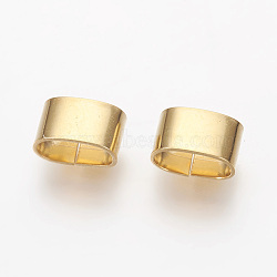 304 Stainless Steel Slide Charms, Oval, Golden, 5x8.5x5mm, Hole: 4x7.5mm(STAS-G187-29G-C)
