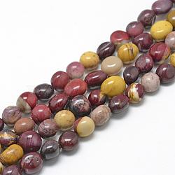 """Chapelets de perles en mookaite naturelles, ovale, 8~15x7~12x4~12mm, trou: 1mm; environ 30~45 pcs/chapelet, 15.7""""(X-G-R445-8x10-11)"""