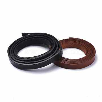 Cowhide Leather Cord, for Bracelet Necklace Making, 9.5x2mm, about 1.09 yards(1m)/strand(WL-XCP0005-01)
