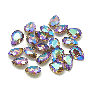8mm Drop Glass Rhinestone Cabochons