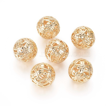 Real Gold Plated Round Brass Beads
