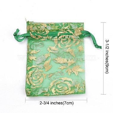 Printed Organza Bags(X-OP-R024-7x9-M)-4