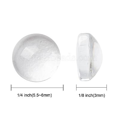 Transparent Glass Cabochons(X-GGLA-R026-6mm)-2