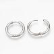 304 Stainless Steel Hoop Earrings(X-MAK-R021-15mm)-2