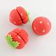 Strawberry Round Sphere Sponge DIY Hair Roller(OHAR-R095-48)-2