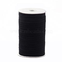 1/8 inch Flat Braided Elastic Rope Cord, Heavy Stretch Knit Elastic with Spool, Black, 3mm, about 180~200yards/roll(540~600 feet/roll)(EC-R030-3mm-02)