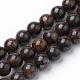 Natural Bronzite Beads Strands(G-S272-01-8mm)-1