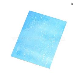 Stickers autocollants laser nail art, auto-adhésif, autocollant, pour les décorations d'ongles, Bleu ciel, 8.3x6.2 cm(MRMJ-Q034-053E)