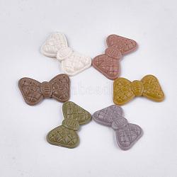 Cabochons opaques en acrylique, bowknot, couleur mixte, 28x46x7mm(X-MACR-T025-04)