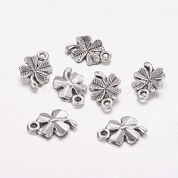 Antique Silver Clover Alloy Charms