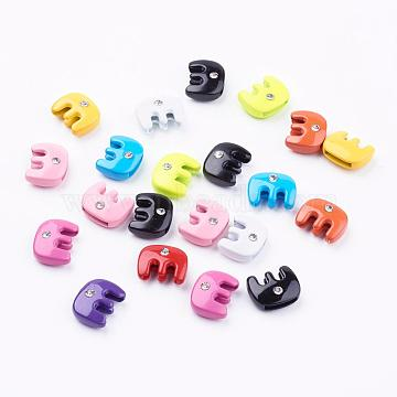 Mixed Color Alloy + Rhinestone Charms