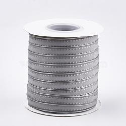 "Ruban d'organza polyester, gris clair, 3/8"" (10 mm); environ 100yards / rouleau (91.44m / rouleau)(SRIB-T003-16A)"