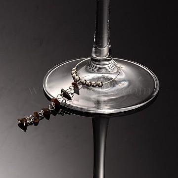 Tiger Eye Wine Glass Charms