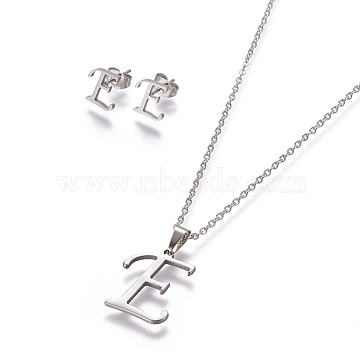 Stainless Steel Stud Earrings & Necklaces