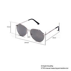 модные женские солнцезащитные очки, рамы из сплавов и смоляные линзы, серый, 14.4x5.5 cm(SG-BB22115-4)