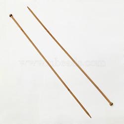 Bamboo Single Pointed Knitting Needles, Peru, 400x6x2.5mm; 2pcs/bag(TOOL-R054-2.5mm)