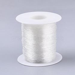Round Elastic Crystal Thread, Stretchy Bracelet String, Clear, 0.7mm, about 131.23 yards(120m)/roll(X-EW-R007-C-01)