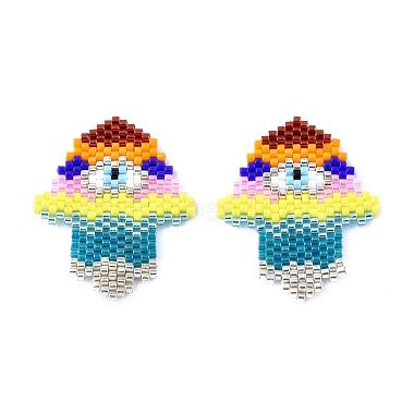 Handmade Seed Beads Pendants(SEED-I012-37)-1