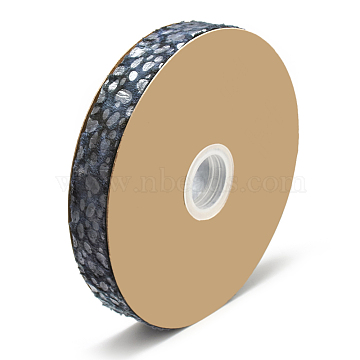Nylon Ribbons, DarkSlateGray, 1inches(25~26mm); about 20yards/roll(18.2m/roll)(OCOR-N003-05A)