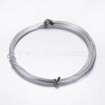 Aluminum Craft Wire, for Beading Jewelry Craft Making, Gainsboro, 20 Gauge, 0.8mm, 10m/roll(32.8 Feet/roll)(AW-D009-0.8mm-10m-21)