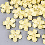 Yellow Flower Resin Cabochons(X-CRES-R432-A-07)