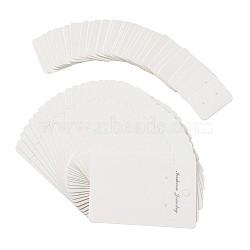 серьги дисплей крафт-бумага ценники, картон дисплей карты, белый, 35x25x0.5 mm, 90x60x0.5 mm, отверстия: 6 mm; 400 шт / комплект(CDIS-TA0002-05)