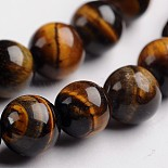 8mm Round Tiger Eye Beads(G-J333-03-8mm)