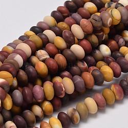 perles rondelles naturelles mookaite, 10x6 mm, trou: 1 mm; environ 62 perle / brin, 15.4(G-I176-24B)
