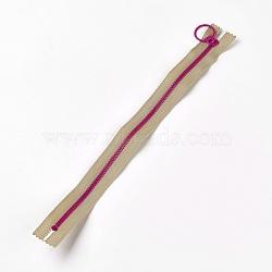 аксессуары для одежды, нейлон и смола закрытой молнией, застежка-молния, darkkhaki, 33.3~33.5x2.8x0.2 cm(FIND-WH0028-04-A08)