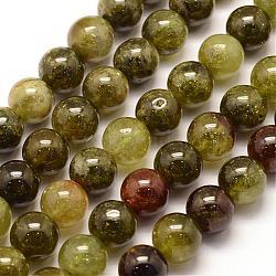 "Vert brins grenat perles naturelles, rond, 6mm, trou: 1mm; environ 63 pcs/chapelet, 15.3"" (39 cm)(G-G661-6mm)"