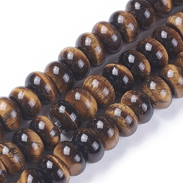 8mm Rondelle Tiger Eye Beads
