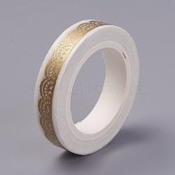 scrapbook diy rubans adhésifs décoratifs, verge d'or, 8 mm; sur 7 m / rouleau(DIY-E009-A16)