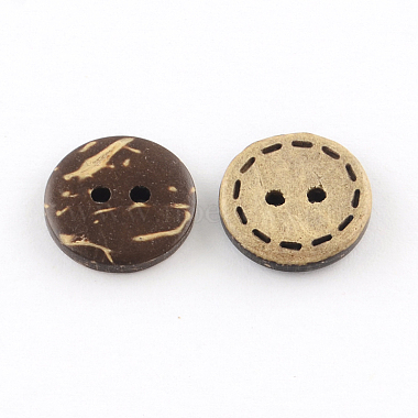 2-Hole Flat Round Coconut Buttons(X-BUTT-R035-002)-2