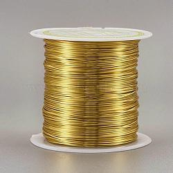 Fil de cuivre fil de perle de cuivre, Plaqué longue durée, or, 0.6 mm; 18 m / rouleau(CWIR-F001-G-0.6mm)