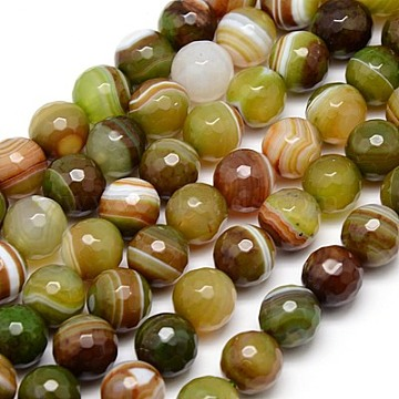 12mm Colorful Round Banded Agate Beads