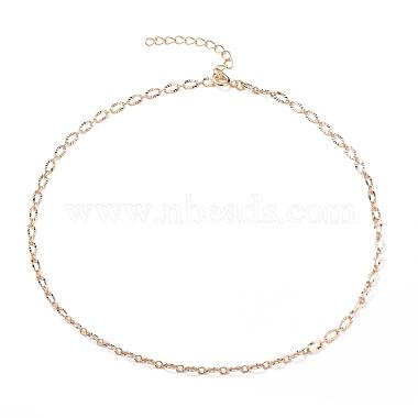 латунь кабель цепи ожерелье изготовление(NJEW-JN03164)-1
