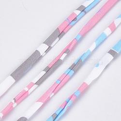 Cordons en polyester imprimés, colorées, 20~25 mm; 28.5~30 m / rouleau(OCOR-S122-01G)