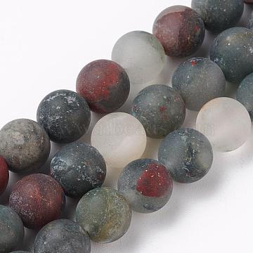 8mm Round Bloodstone Beads