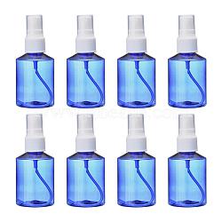 50ml Refillable PET Plastic Spray Bottles, Empty Pump Bottles for Liquid, Blue, 4.2x10cm, Capacity: 50ml(1.69 fl. oz)(TOOL-Q024-02A-02)