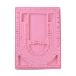 Plastic Bead Design Boards, Pink, Size: about 24cm wide, 33cm long, 1cm thick(TOOL-H003-2)