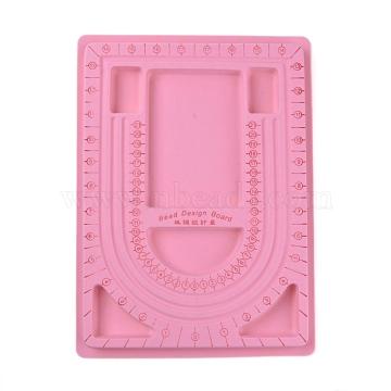 Pink Plastic Bead Design Boards