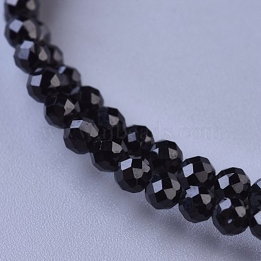 Natural Black Spinel Beaded Necklaces(NJEW-K114-A-A20)-2