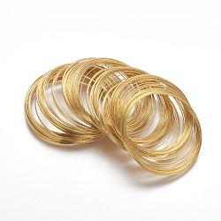 Fil à mémoire en acier, bracelets faisant, sans nickel, or, 5.5 cm, fils: 0.6 mm, environ 2200 cercles / 1000 g(MW5.5CM-NFG)