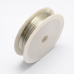fil de fer, argent, Jauge 24, 0.5 mm, 7 m / rouleau, 10 rouleaux / set(MW-R001-0.5mm-07)