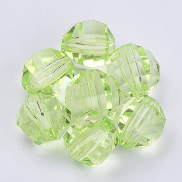 16mm LawnGreen Round Acrylic Beads
