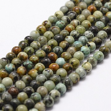 10mm Round African Turquoise Beads